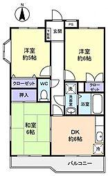 第一フラワーマンション[2階]の間取り