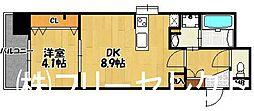 アクタス博多Vタワー[6階]の間取り
