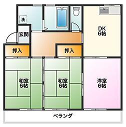 プリンスマンション[3階]の間取り