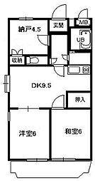神奈川県小田原市西酒匂2丁目の賃貸マンションの間取り