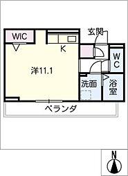 D‐roomビーチルック 3階ワンルームの間取り