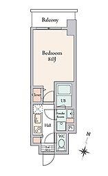 BLESS溝ノ口 6階1Kの間取り