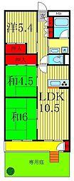 新松戸南パークハウスB棟[1階]の間取り