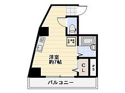 ラフィネ横須賀中央[601号室]の間取り