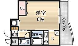 ノルデンハイム新大阪[11階]の間取り
