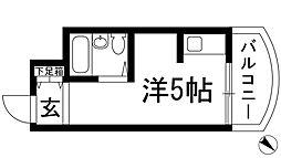 モンセリーチェ甲東園[3階]の間取り