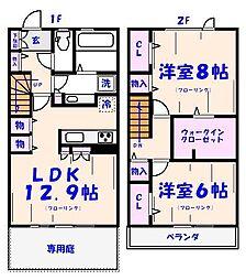 [テラスハウス] 千葉県市川市東菅野3丁目 の賃貸【/】の間取り