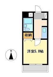 ブリッヂガーデンNAGONO[4階]の間取り