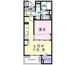 横浜市営地下鉄ブルーライン 上大岡駅 バス15分 公務員住宅入口下車 徒歩3分の賃貸マンション 2階1LDKの間取り