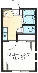 ドアーズ新井薬師[201号室号室]の間取り