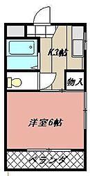 プレアール前田[203号室]の間取り