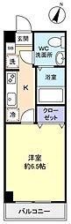 アリビオ八千代台西[6階]の間取り