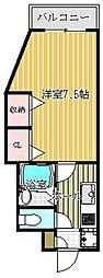 兵庫県姫路市梅ケ枝町の賃貸マンションの間取り