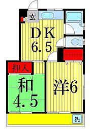 メゾン東和[201号室]の間取り