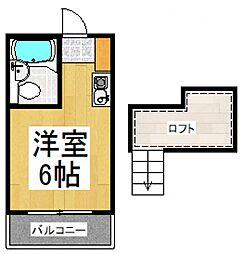 ベル武蔵野二番館[2階]の間取り