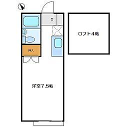 シャトレー入曽[108号室]の間取り