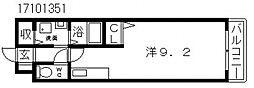 ジュネス山之内[3階]の間取り