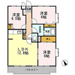 D-room コンフォート鵠沼II[2階]の間取り
