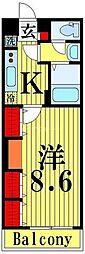 リブリ・June HAPINESS 1階1Kの間取り