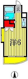 ジュネパレス新松戸第06[201号室]の間取り