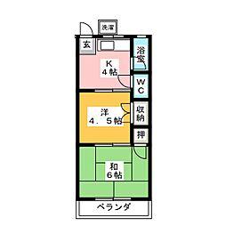 中島ハイツ[2階]の間取り