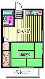 アザレ大成[2階]の間取り