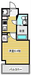 グランパーク大阪ウエスト[6階]の間取り