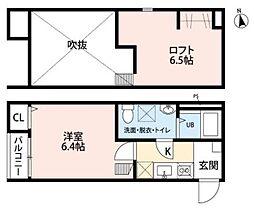 JR東北本線 長町駅 徒歩12分の賃貸アパート 1階1Kの間取り