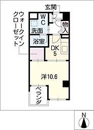 プティマンション鶴舞[2階]の間取り