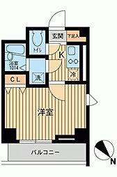 アーデン駒沢大学[1104号室]の間取り