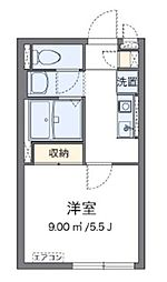 京成本線 堀切菖蒲園駅 徒歩15分の賃貸アパート 1階1Kの間取り