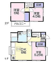 [一戸建] 千葉県八千代市大和田新田 の賃貸【/】の間取り