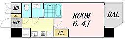 JR大阪環状線 京橋駅 徒歩5分の賃貸マンション 6階1Kの間取り