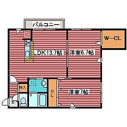 さくら福住[2階]の間取り