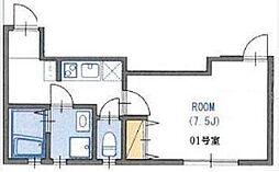 ラフォンテ板橋本町 3階1Kの間取り