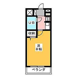 鞘町シティハウス[4階]の間取り