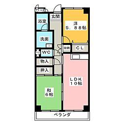 COZY・128[4階]の間取り