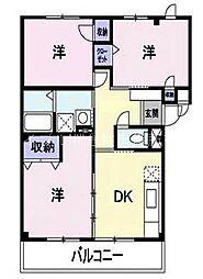 岡山県倉敷市大内丁目なしの賃貸マンションの間取り