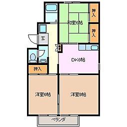 モンシャトー B棟[1階]の間取り