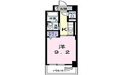 JR宇野線 備前西市駅 徒歩37分の賃貸マンション 4階1Kの間取り