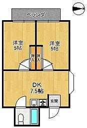 エマリーコート[2階]の間取り