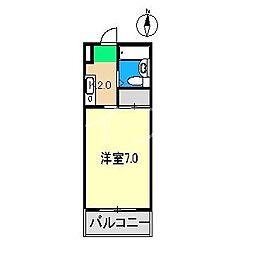 五常No.3マンション[3階]の間取り