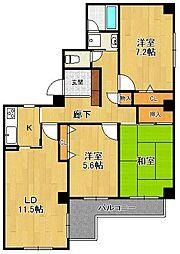 メゾンドール広田[3階]の間取り