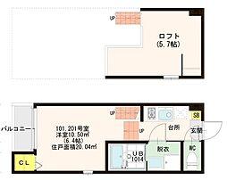 仮)醍醐南西裏町SKHコーポ[2階]の間取り