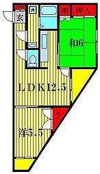 ニューホームズ第一マンション[3階]の間取り