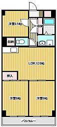 第二 第三 千代田マンション[3408号室]の間取り