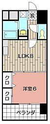 ヒット砂津BLD[603号室]の間取り