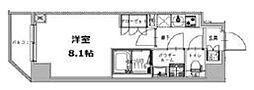 S-RESIDENCE三田慶大前 11階1Kの間取り