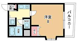 セレージャ桜塚[3階]の間取り