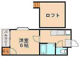 フレグランス博多[2階]の間取り